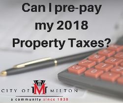 Can I pre-pay my 2018 Property Taxes_