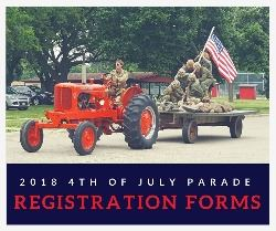 2018 4th of July Parade Registration Forms
