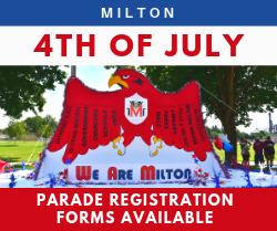 Milton 4th of July Parade Registration Forms Available