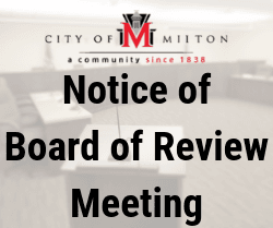 Notice of Board of Review Meeting