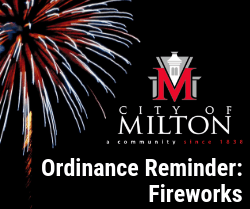 Ordinance Reminder - Fireworks