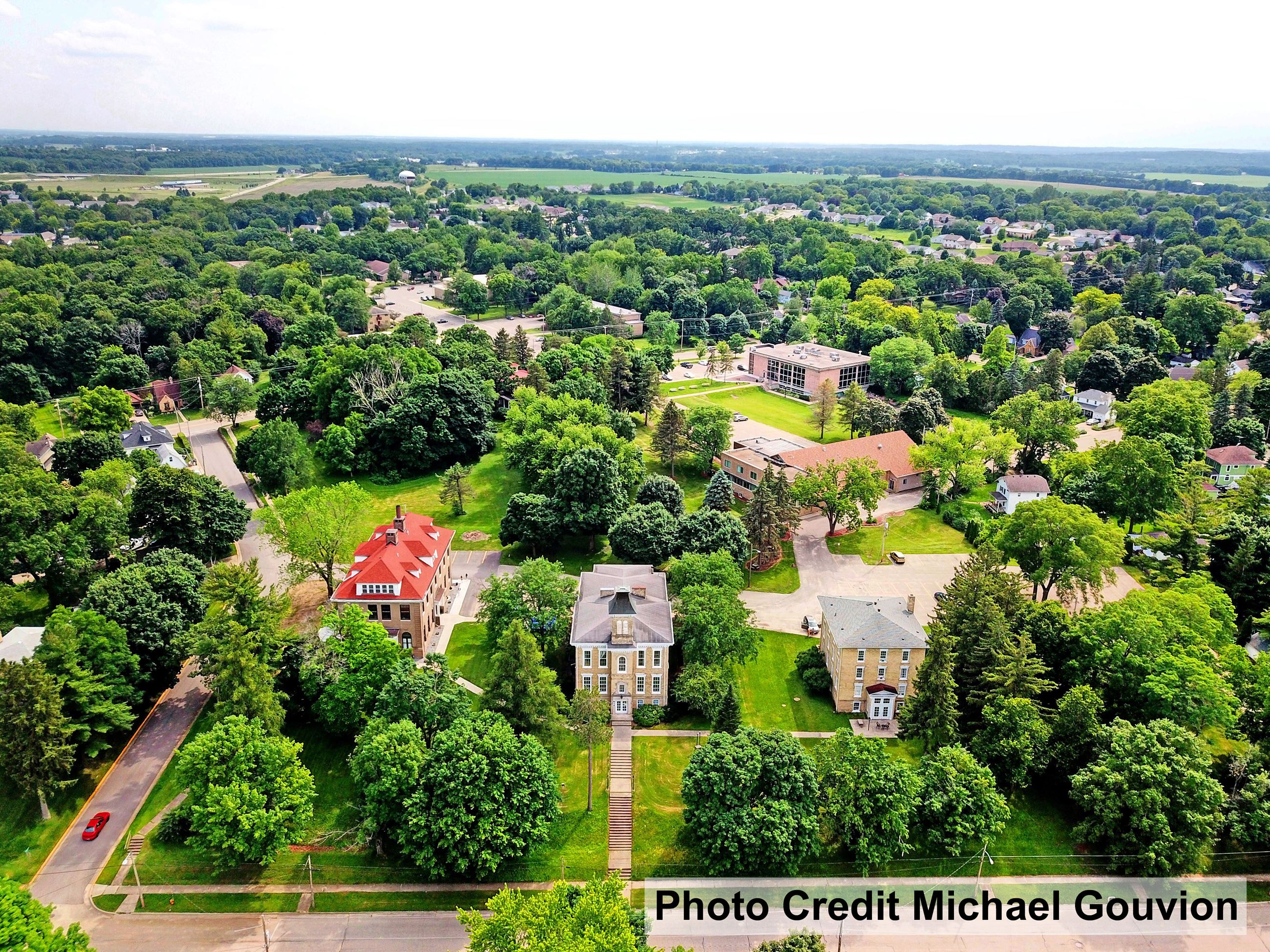 Milton College Historic District Aerial Photo - Photo Credit Michael Gouvion