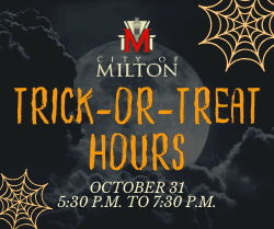 Trick-or-Treat Hours - October 31, 2019, 5:30 p.m. to 7:30 p.m.