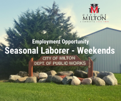 Seasonal Laborer Weekends - Employment Opportunity