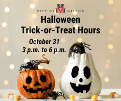 Halloween Trick-or-Treat Hours - October 31, 3 p.m. to 6 p.m.