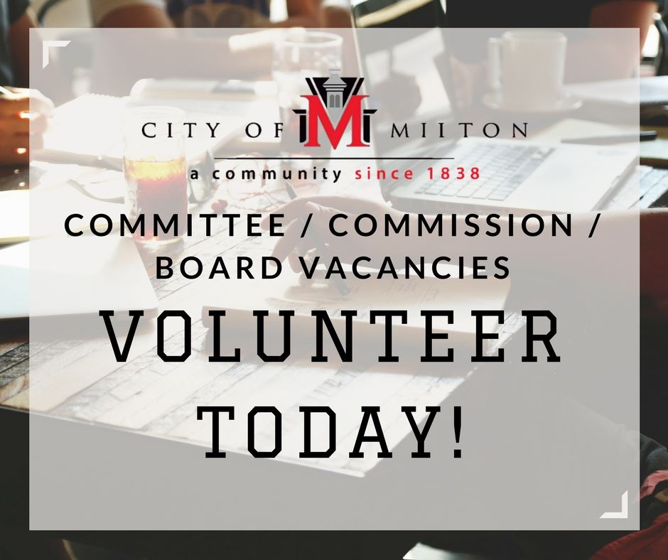 Committee/Commission/Board Vacancies